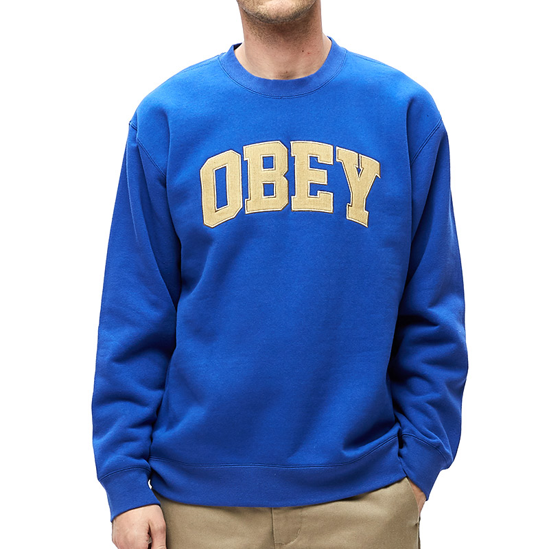 Obey Uni Crewneck Sweater Blue