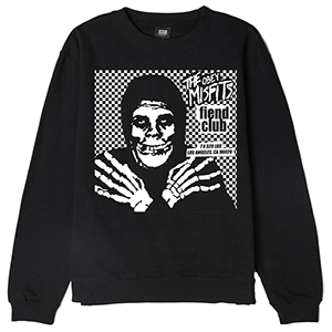 Obey X Misfits Fiend Club Hallow Crewneck Sweater Black