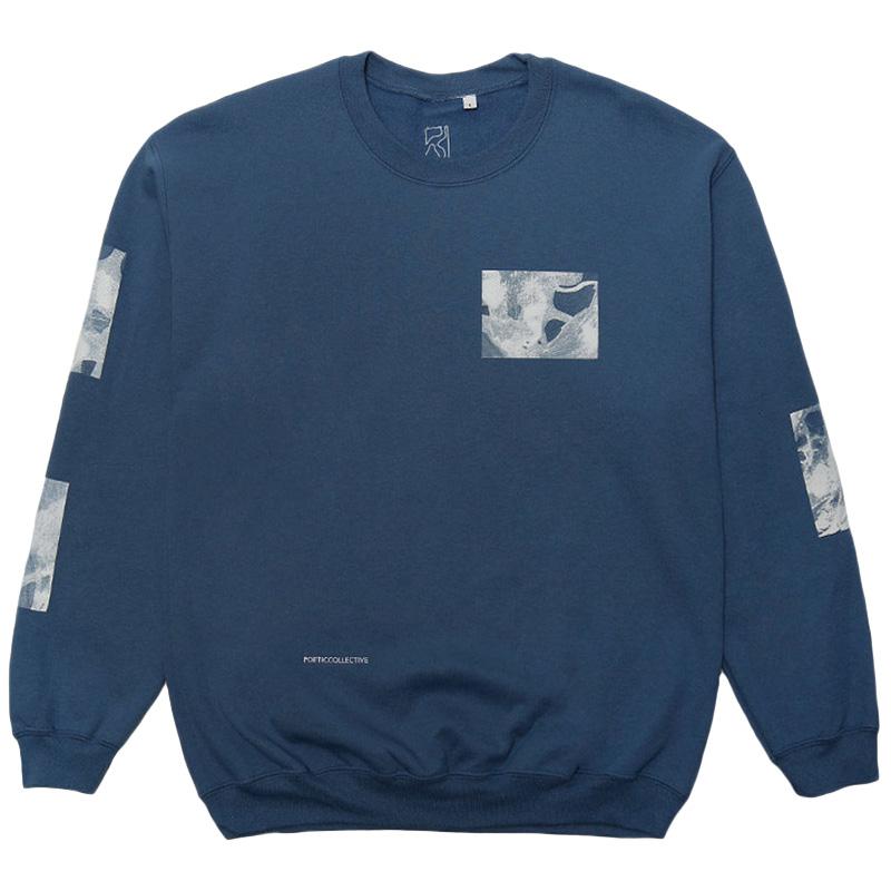 Poetic Fluid Crewneck Sweater Indigo
