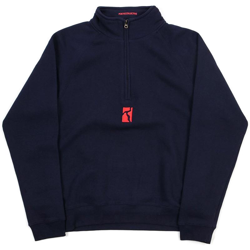 Poetic Half Zip Sweater Navy