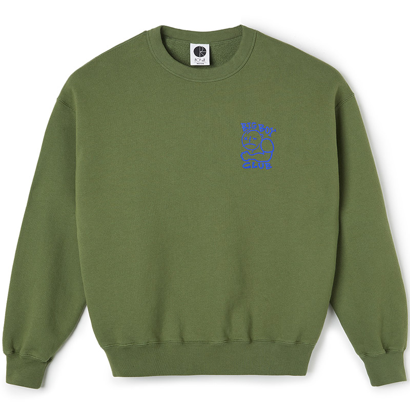 Polar Big Boy Club Crewneck Sweater Army Green
