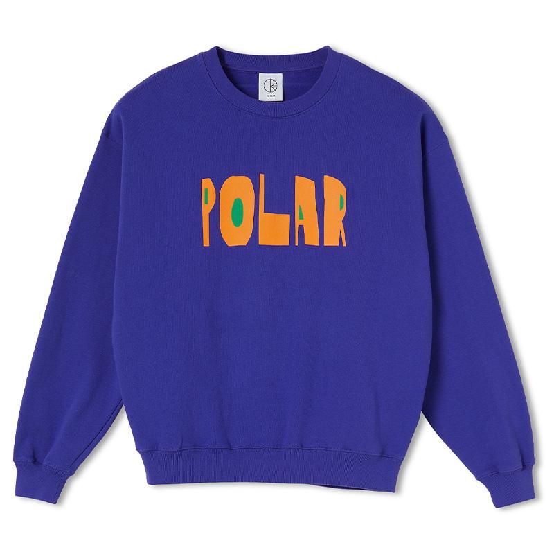 Polar Cut Logo Crewneck Sweater Purple