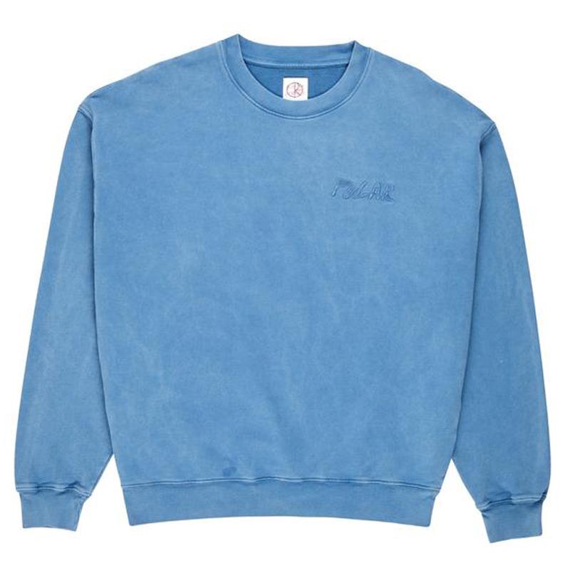 Polar Garment Dye Crewneck Sweater Blue