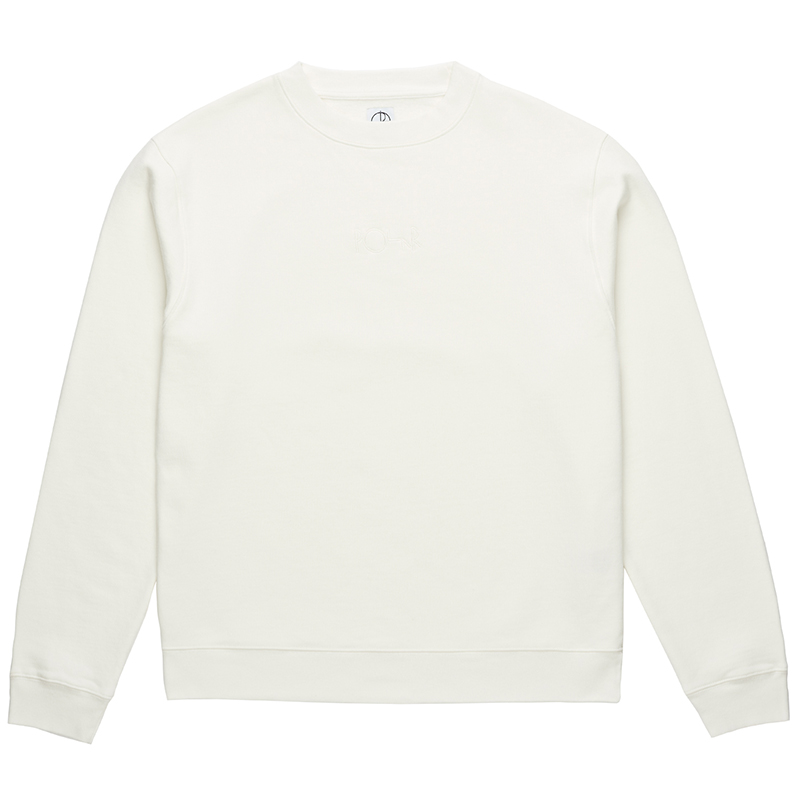 Polar Heavyweight Default Crewneck Sweater Ivory White