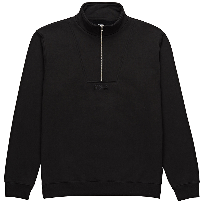 Polar Heavyweight Zip Neck Sweater Black