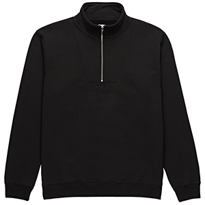 Polar Heavyweight Zip Neck Sweater Black