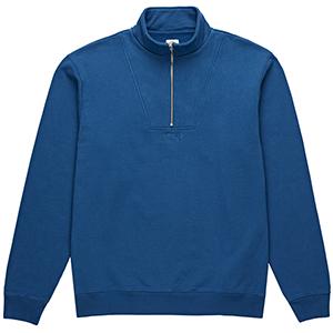 Polar Heavyweight Zip Neck Sweater Indigo Blue