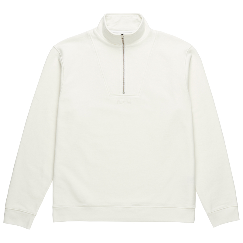 Polar Heavyweight Zip Neck Sweater Ivory White