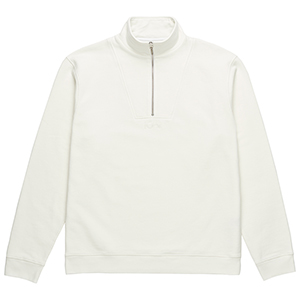 Polar Heavyweight Zip Neck Sweater Ivory White