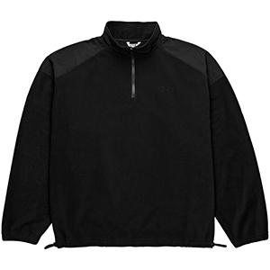 Polar Lightweight Fleece Zip Mockneck Sweater Black