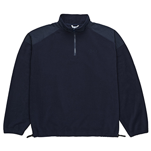 Polar Lightweight Fleece Zip Mockneck Sweater Navy