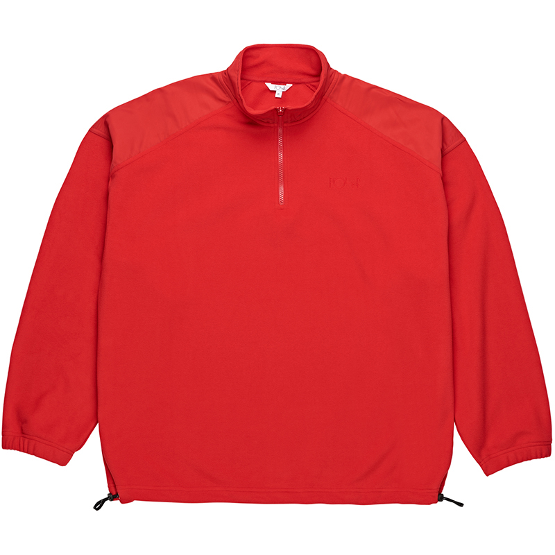 Polar Lightweight Fleece Zip Mockneck Sweater Red