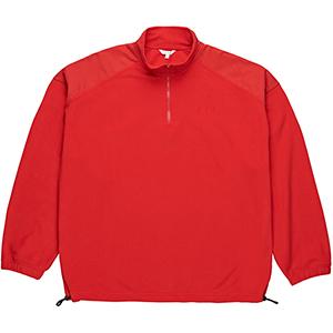 Polar Lightweight Fleece Zip Mockneck Sweater Red