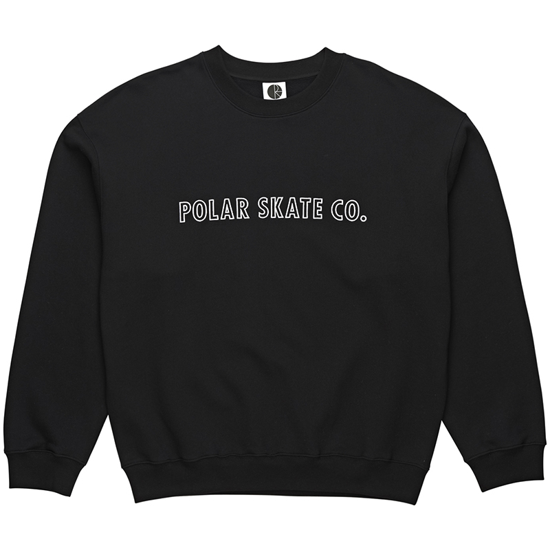 Polar Outline Crewneck Sweater Black