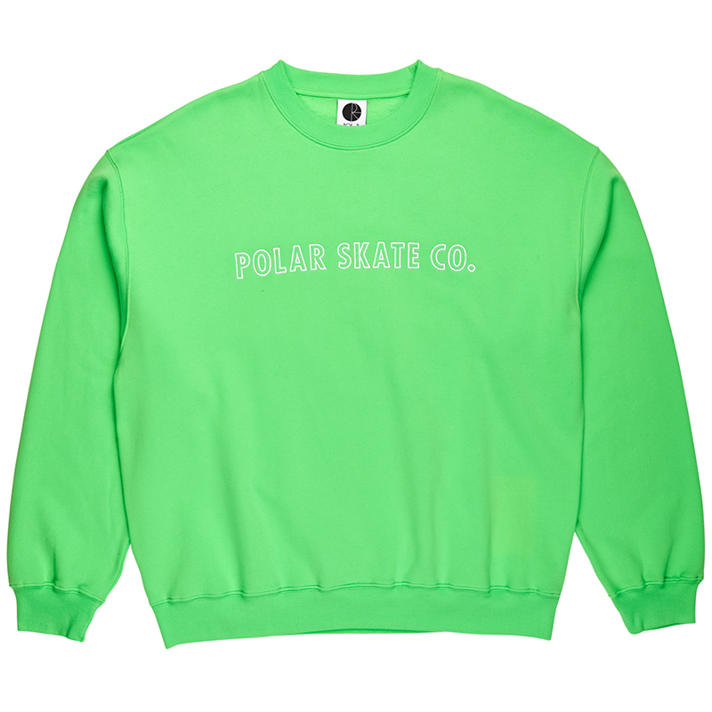 Polar Outline Crewneck Sweater Gecko Green