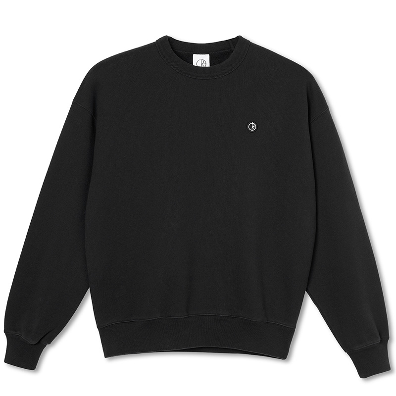 Polar Patch Crewneck Sweater Black