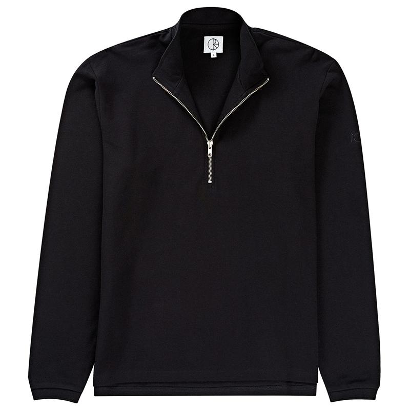 Polar Pique Half Zip Sweater Black