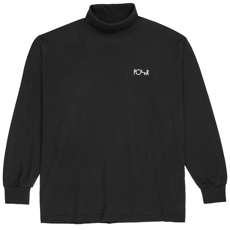 Polar Script Turtleneck Black