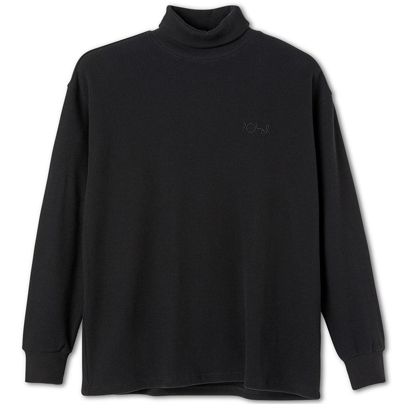 Polar Shin Turtleneck Sweater Black