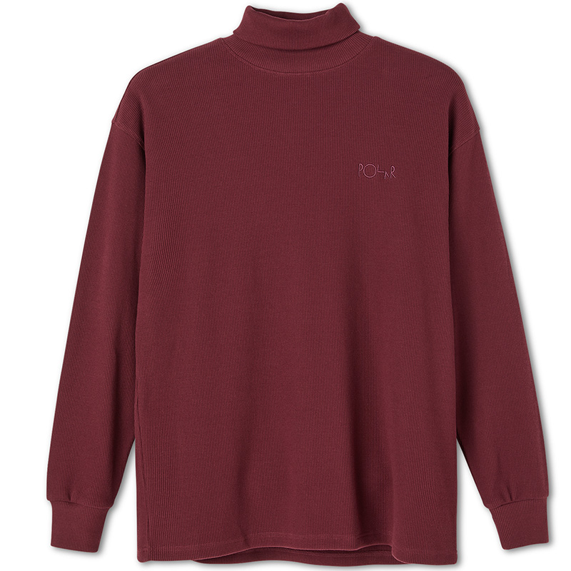 Polar Shin Turtleneck Sweater Wine