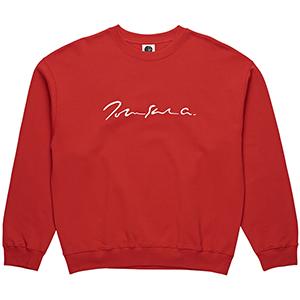Polar Signature Crewneck Sweater Red