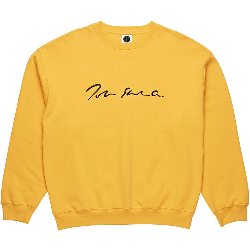 Polar Signature Crewneck Sweater Yellow
