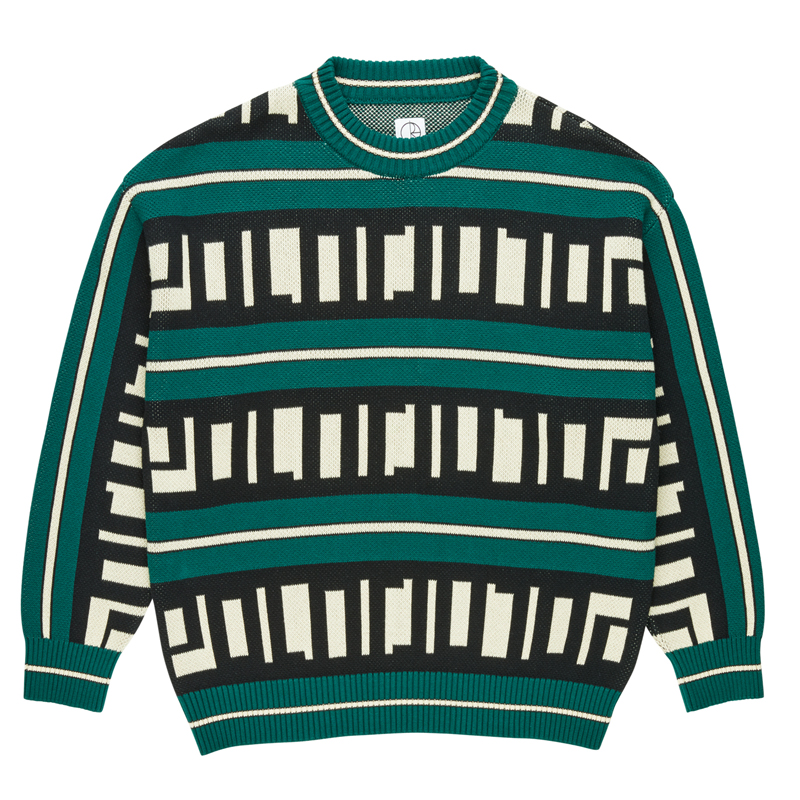 Polar Square Logo Knit Sweater Green