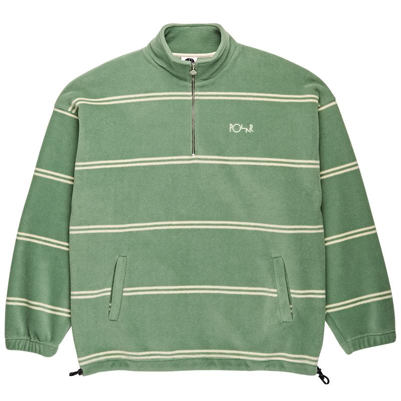 Polar Striped Fleece Sweater Dusty Mint