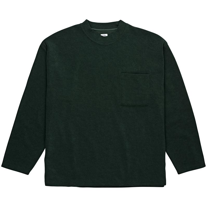 Polar Terry Crewneck Sweater Dark Green
