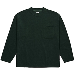 Polar Terry Crewneck Sweater Dark Green
