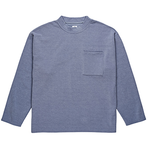 Polar Terry Crewneck Sweater Sky Blue