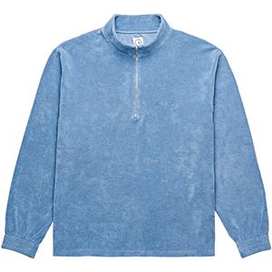 Polar Terry Half Zip Sweater Dusty Indigo