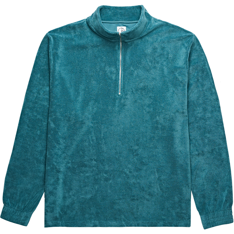 Polar Terry Half Zip Sweater Teal