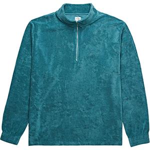Polar Terry Half Zip Sweater Teal