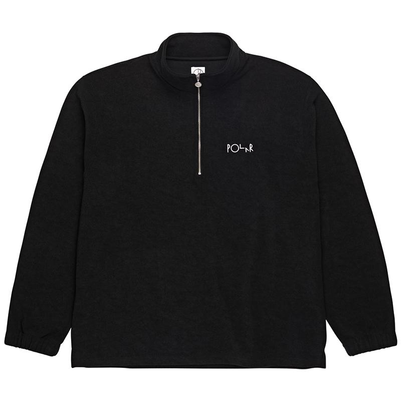 Polar Terry Zip Mockneck Sweater Black
