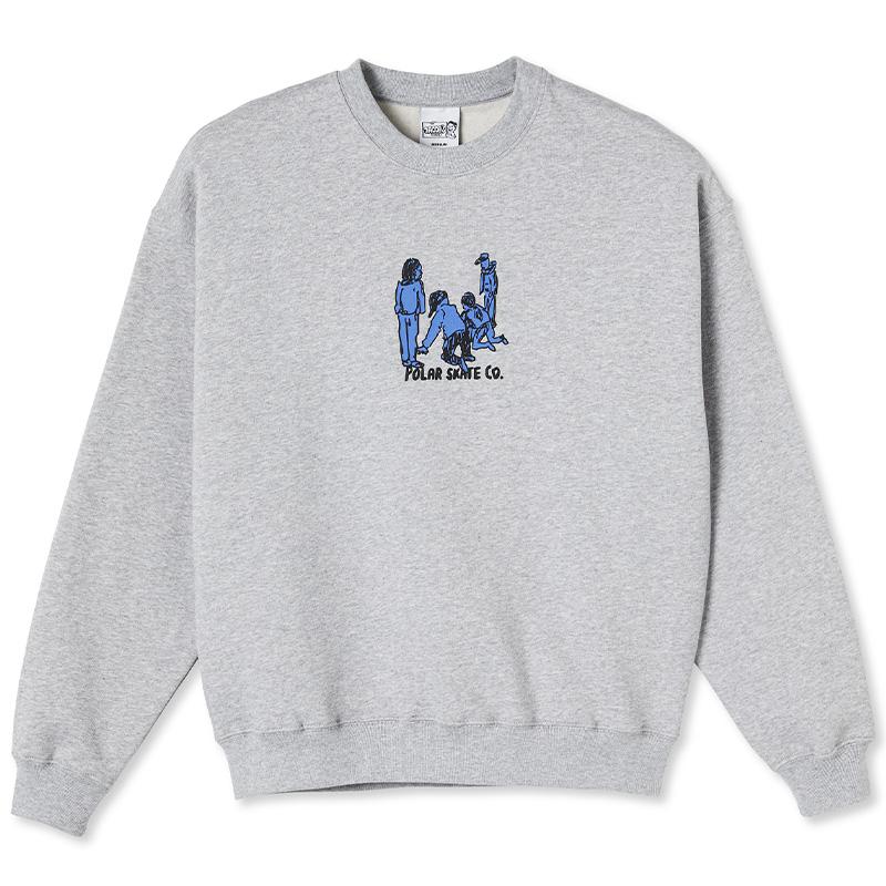 Polar Up to no good Crewneck Sweater Sport Grey