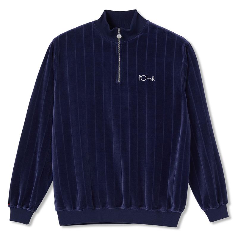 Polar Velour Zipneck Sweatshirt Rich Navy