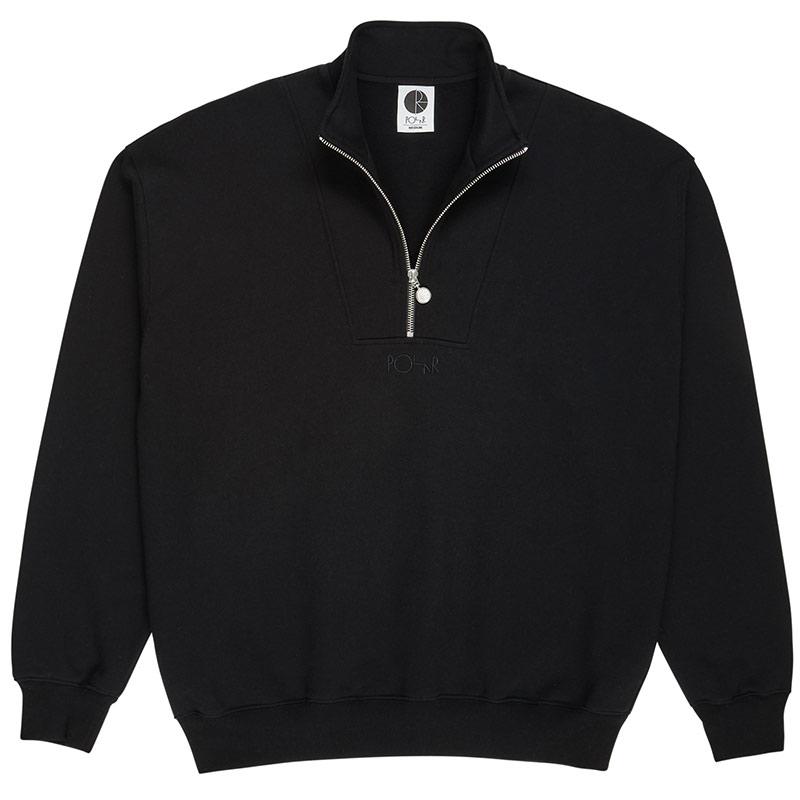 Polar Zip Neck Sweater Black