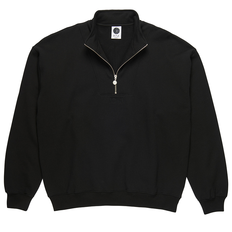 Polar Zip Neck Sweatshirt Black