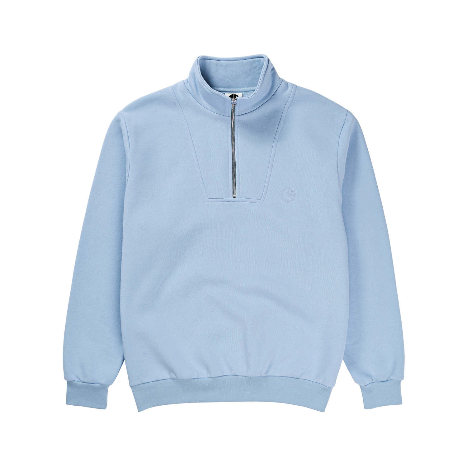 Polar Zip Neck Sweatshirt Powder Blue