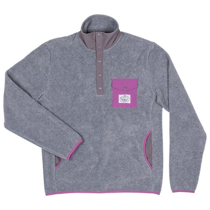 Poler Snap Fleece Sweater Gray