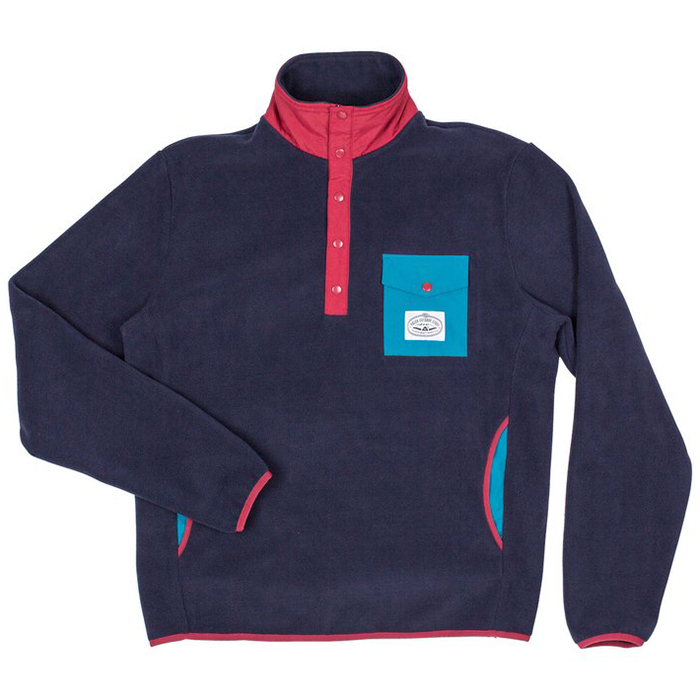Poler Snap Fleece Sweater Navy