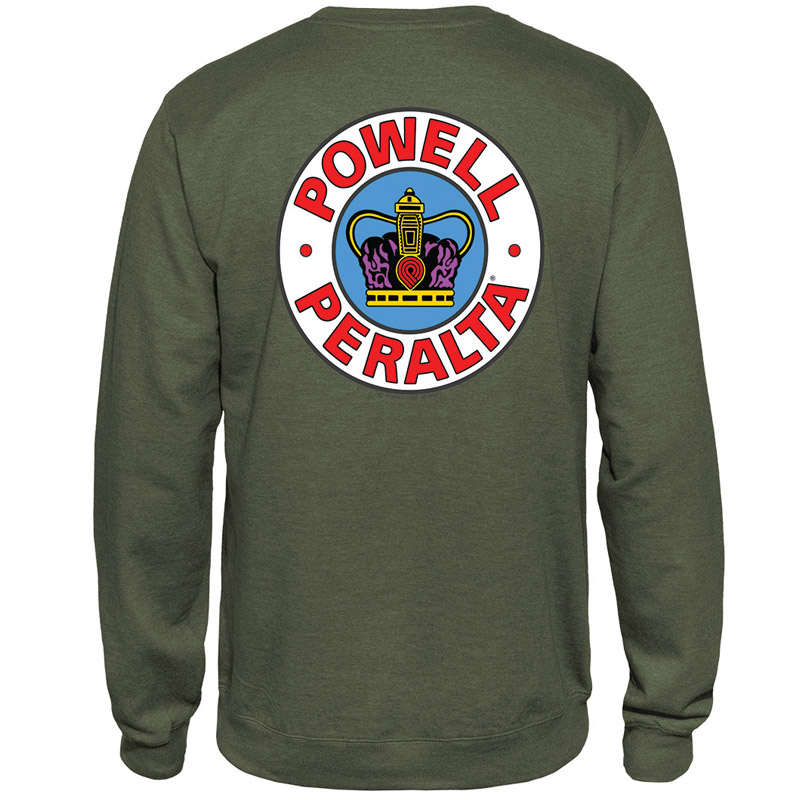Powell Peralta Supreme Crewneck Sweater Army