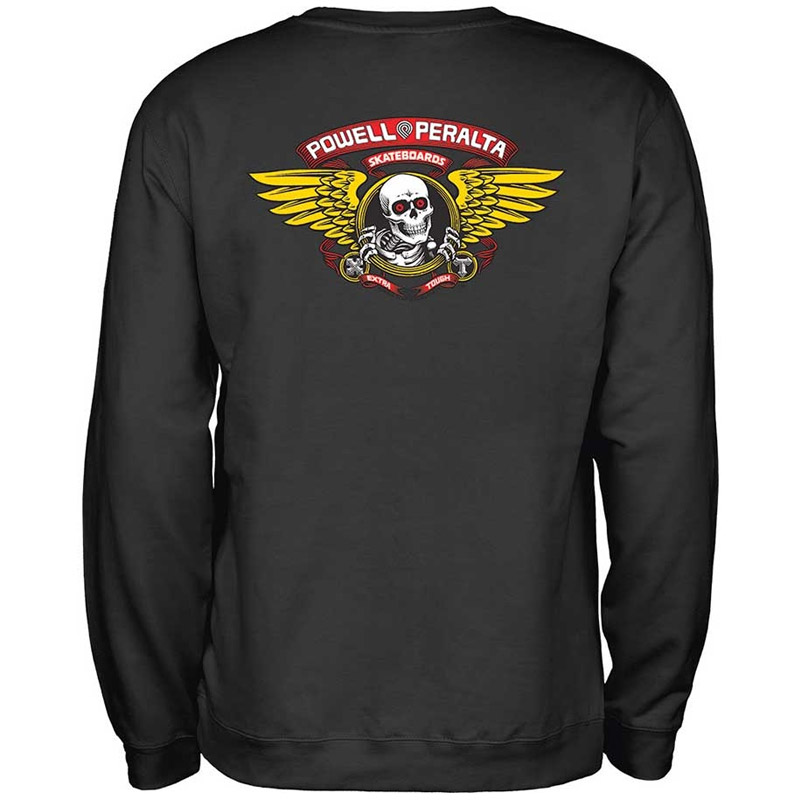 Powell Peralta Winged Ripper Crewneck Sweater Black