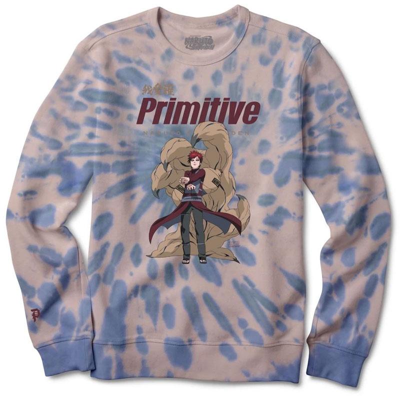 Primitive x Naruto Gaara Washed Crewneck Sweater Cream