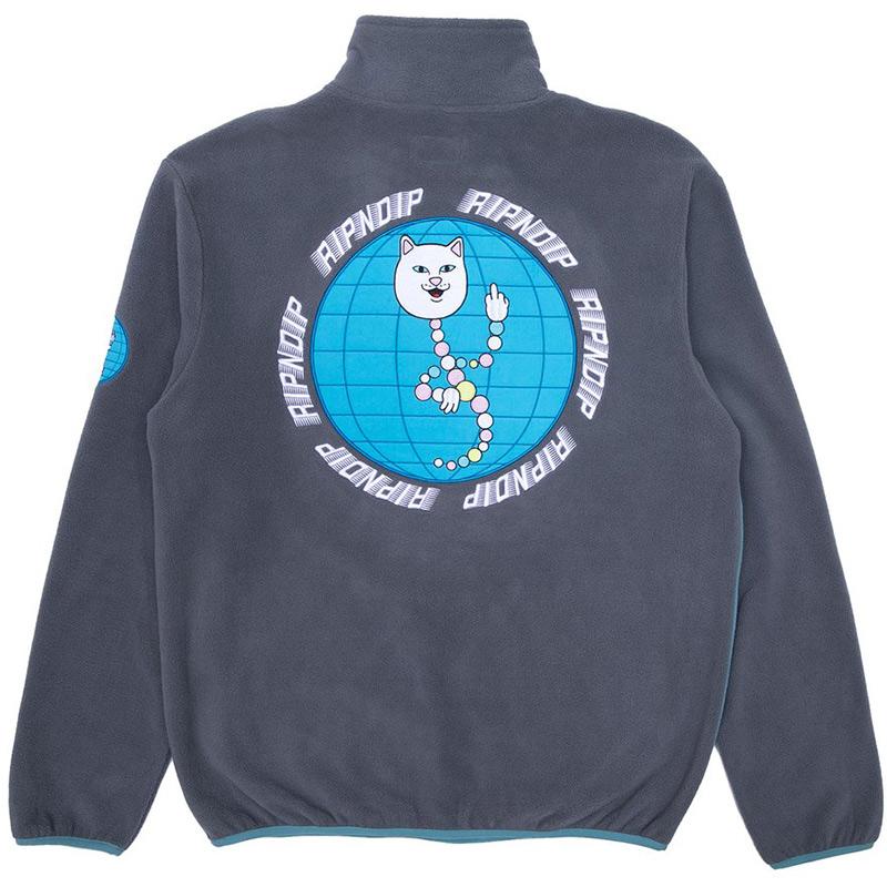 RIPNDIP D.N.A Half Snap Sweater Dark Slate