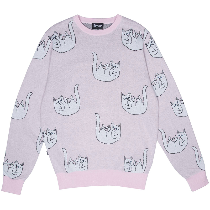 RIPNDIP Falling For Nermal Knit Sweater Pink