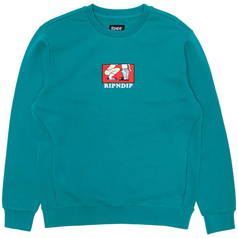 RIPNDIP Love Is Blind Crewneck Sweater Teal