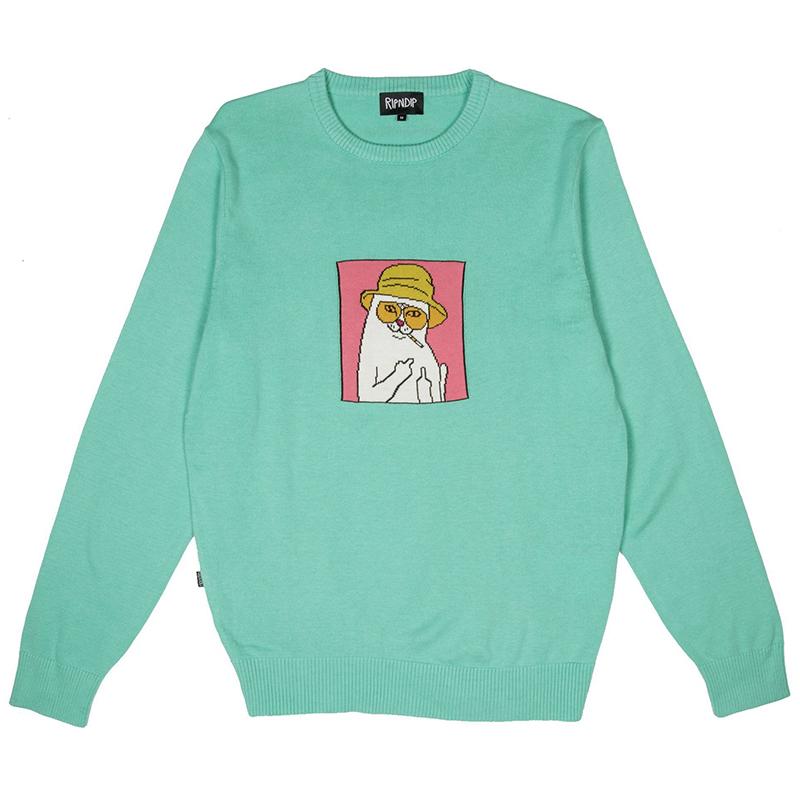 RIPNDIP Nermal S. Thompson Crewneck Sweater Clay