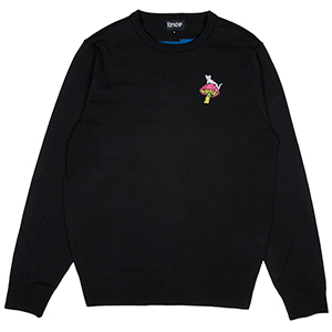 RIPNDIP Psychedelic Knit Crewneck Sweater Black